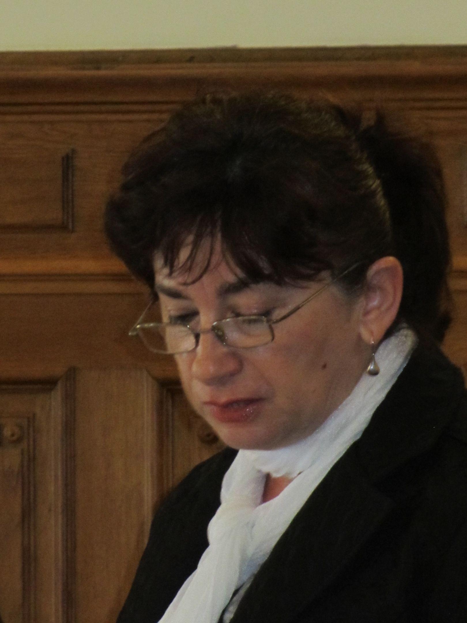 Lia Borza, a Gyulafehérvári Zsidó Hitközség elnöke