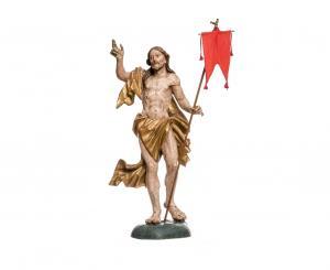 A feltámadt Krisztus szobra – fa, 18. sz. Csíksomlyó, ferences kolostor, fotó: Kristó Róbert